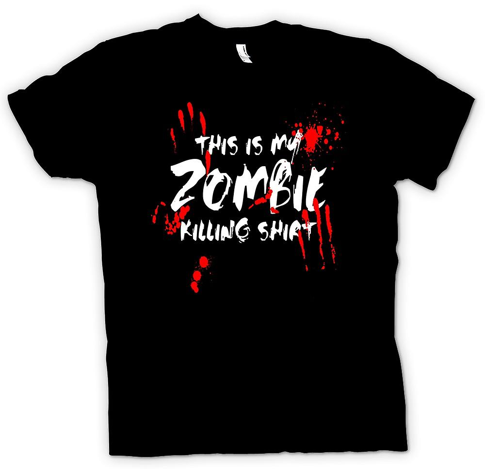Womens T-shirt - This Is My Zombie Killing - Funny