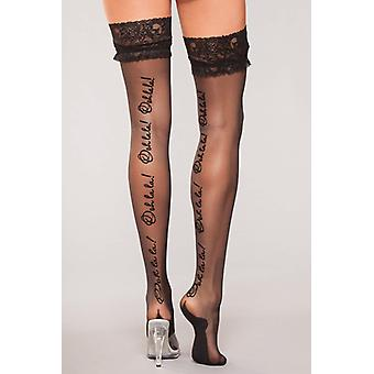 Stockings with lace and