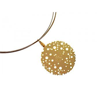 Designer necklace gold plated pendant jewelry wire DESIGN