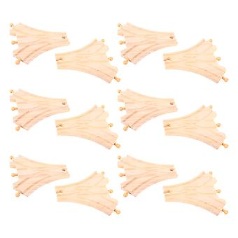 Bigjigs Rail Three Way Points (Pack of 12) Wooden Track Expansion Set Railway