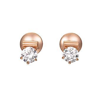 Joop vrouwen oorbellen zilver Rosé cubic zirconia van Lauren JPER90312C000