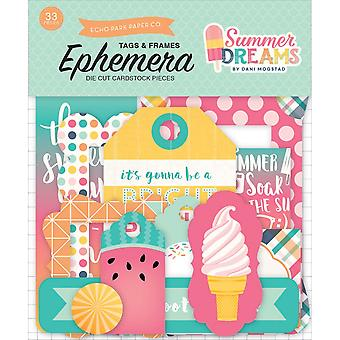 Summer Dreams Ephemera Cardstock Die-Cuts-Frames & Tags