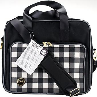 Crafter's Shoulder Bag-Black Plaid