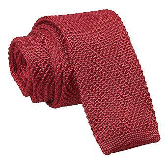 Borgoña de punto flaco corbata...