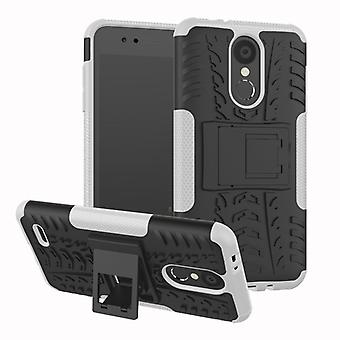 For LG K9 2018 hybrid case 2 piece SWL outdoor white pouch bag sleeve cover protection