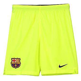 2018-2019 Barcelona unna Shorts Nike fotball Volt (barn)