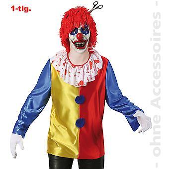 Horror clown costume mens di pantomime Pierrot zombie Halloween mens costume