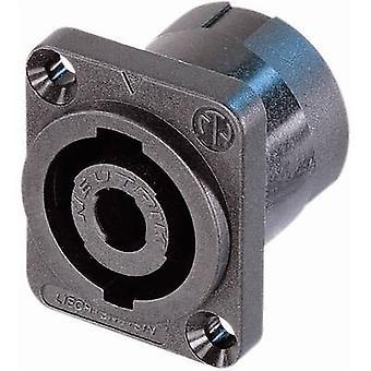 Audio jack Sleeve socket, straight pins Number of pins: 4 Black Neutrik NL4MP-ST 1 pc(s)