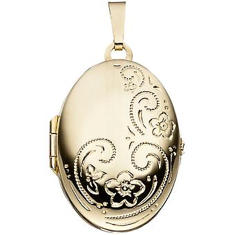 Medallion 333 /-g-gold photo Locket oval medallion of gold Photo Pendant gold