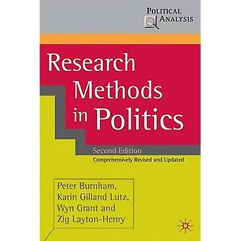 Méthodes de recherche en politique par Peter Burnham