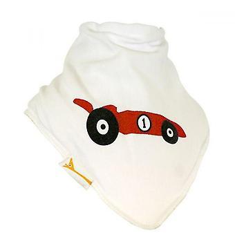 Blanco y rojo Racing coche Bandana babero