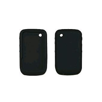 Cubierta de piel de Gel de silicona Case para BlackBerry Curve 8520, 8530 (negro)