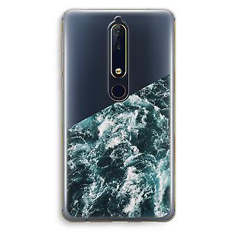 Nokia 6 (2018) transparante Case - Ocean Wave