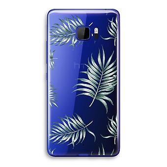 HTC U Ultra Transparent Case (Soft) - Simple leaves