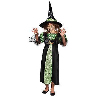Spinnen Hexe Kinder Kostüm Mädchen Zauberin Halloween