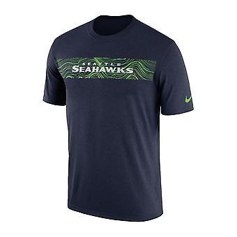 Nike НФЛ Сиэтл Сихокс оттеснить сейсмических легенда производительности футболку