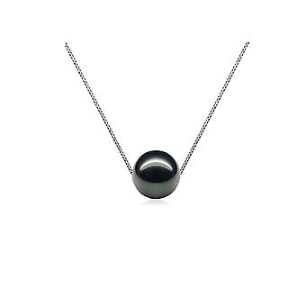 Woman Silver 925/1000 and Perle de Culture of freshwater black necklace