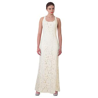 Lauren Ralph Lauren Floral Lace Cutout Back Evening Gown Dress