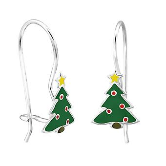 Christmas Tree - 925 Sterling Silver Earrings - W28647x