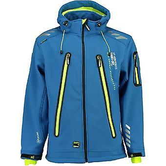 Geografische Noorwegen heren Softshell jas - TARZAN blauw