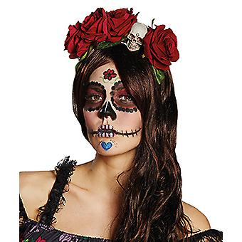 La Catrina headband Red