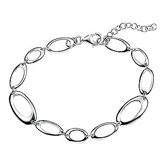 Elements Silver Open Oval Link Bracelet - Silver