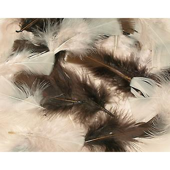 25g Mixed Natural Craft Feathers | Scrapbooking Card Making Embellishments