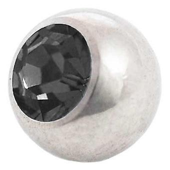 Piercing Replacement Ball, Black Stone | 1,6 x 4, 5 and 6 mm, Body Jewellery