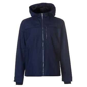 Crosshatch Mens Linus Jacket Nylon Coat Top Long Sleeve Lightweight Hooded Zip