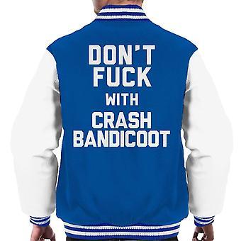 Ikke kødde med Crash Bandicoot menn Varsity jakke