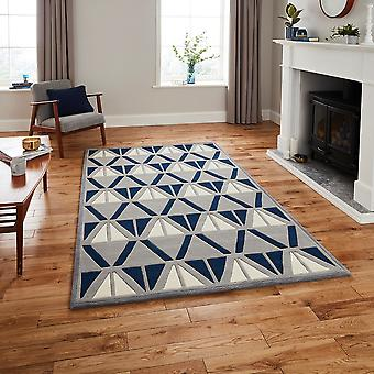 Moderne tapijten-tapijten van de HK 1374-grijs Marine rechthoek