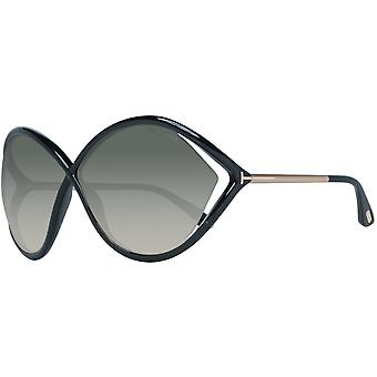Tom Ford women's Butterfly-shaped black sunglasses