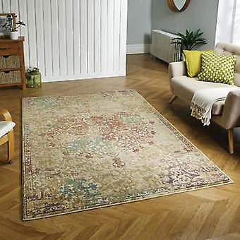 Florenza 2069 Y bege/azul/ferrugem retângulo tapetes tapetes modernos