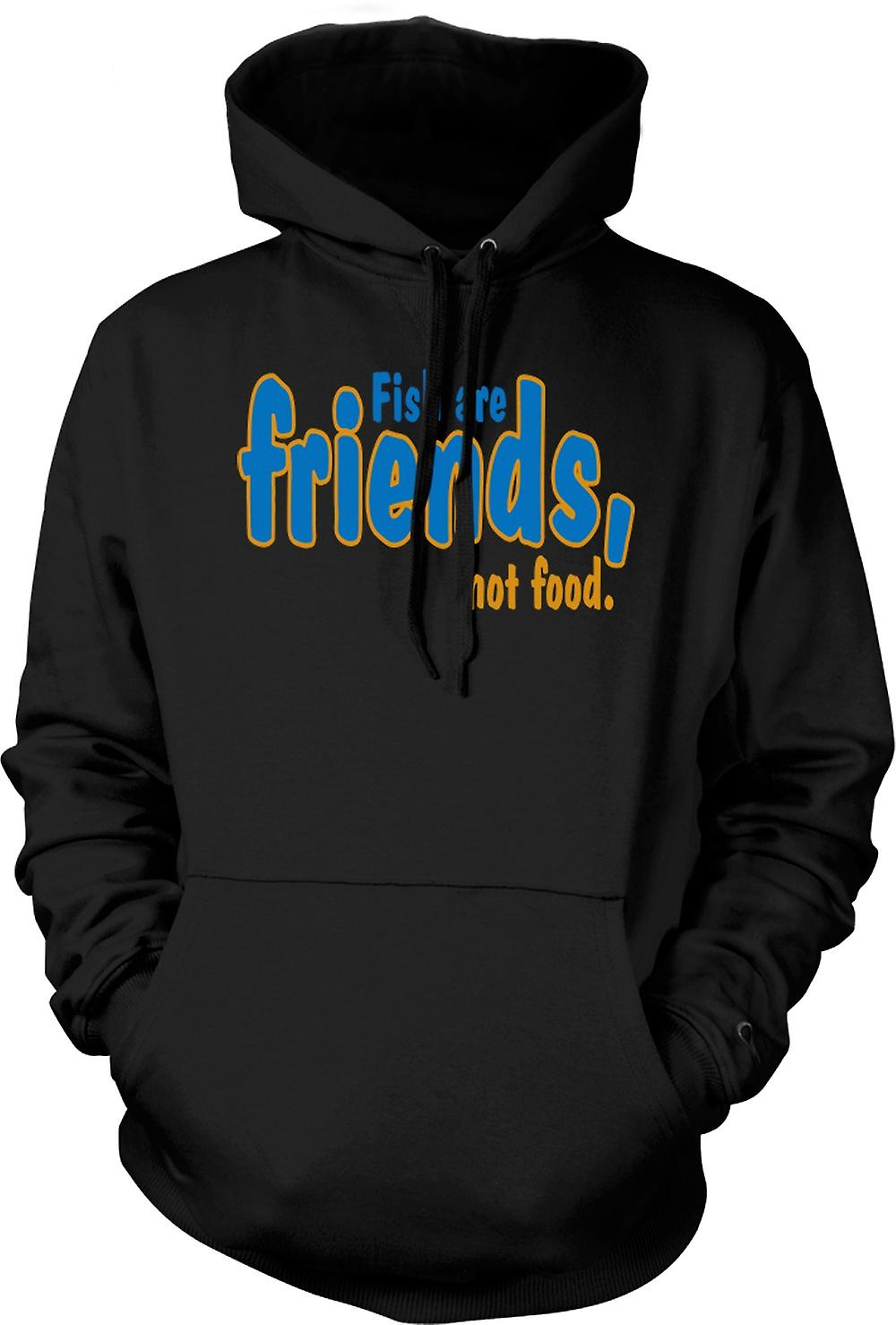 Mens Hoodie - Fish Are Friends, Not Food - Funny Quote