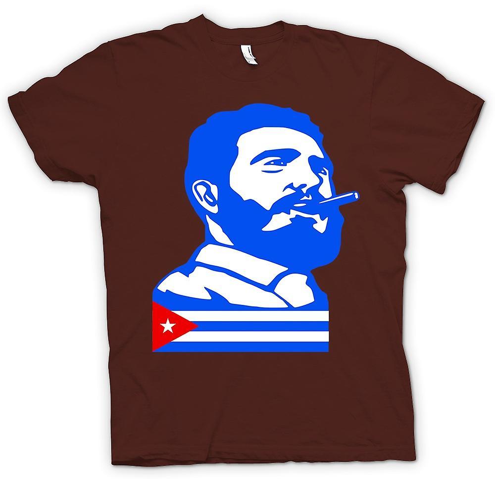 Mens T-shirt - Fidel Castro - Kuba