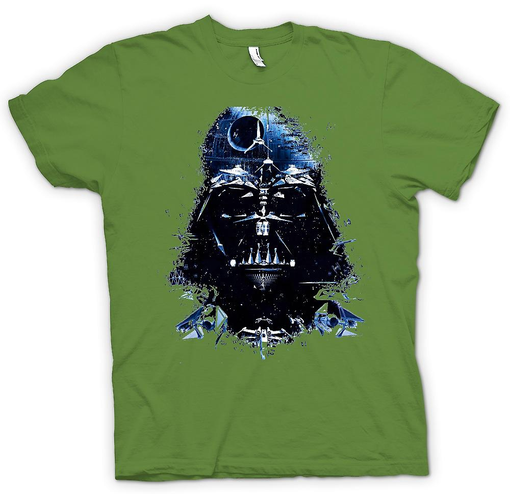 Herr T-shirt - Darth Vader - Death Star