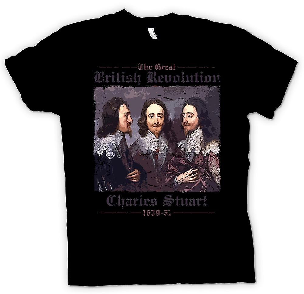 Womens T-shirt - The Great British Revolution - Charles Stuart
