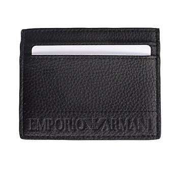 Emporio Armani Branded Leather Black Cardholder