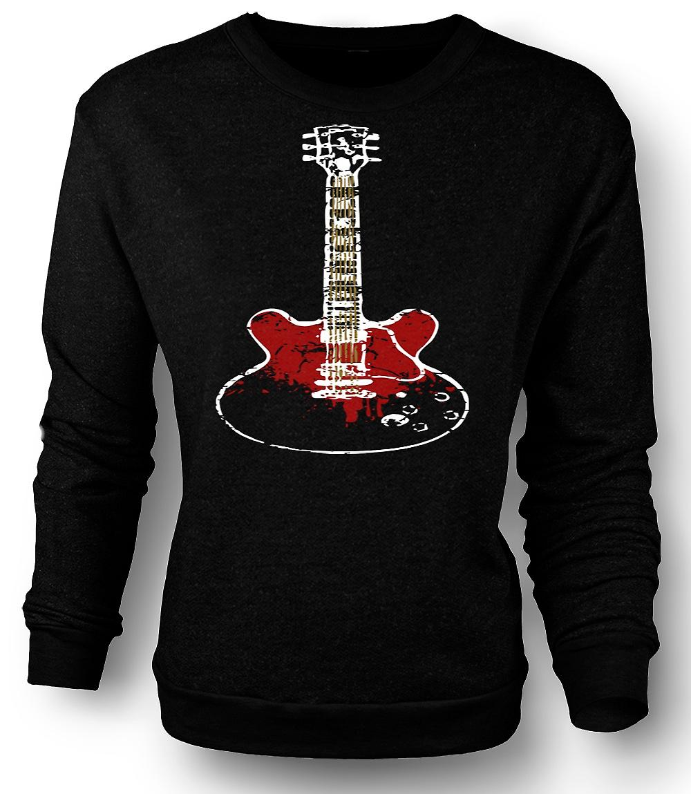 Mens Sweatshirt Gibson SG Guitar Rock Blues Music