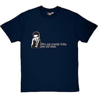 Малколм Такер потные шары цитатой Мужская футболка