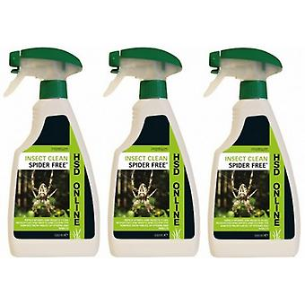 3 X 500ml Impressed Spider Free Repellent Spray - The Only Hse Approved Spider Repellent In The Uk
