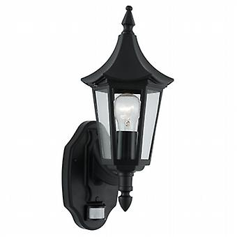 Searchlight 14715 Bel Aire Black PIR Outdoor Lantern Wall Light