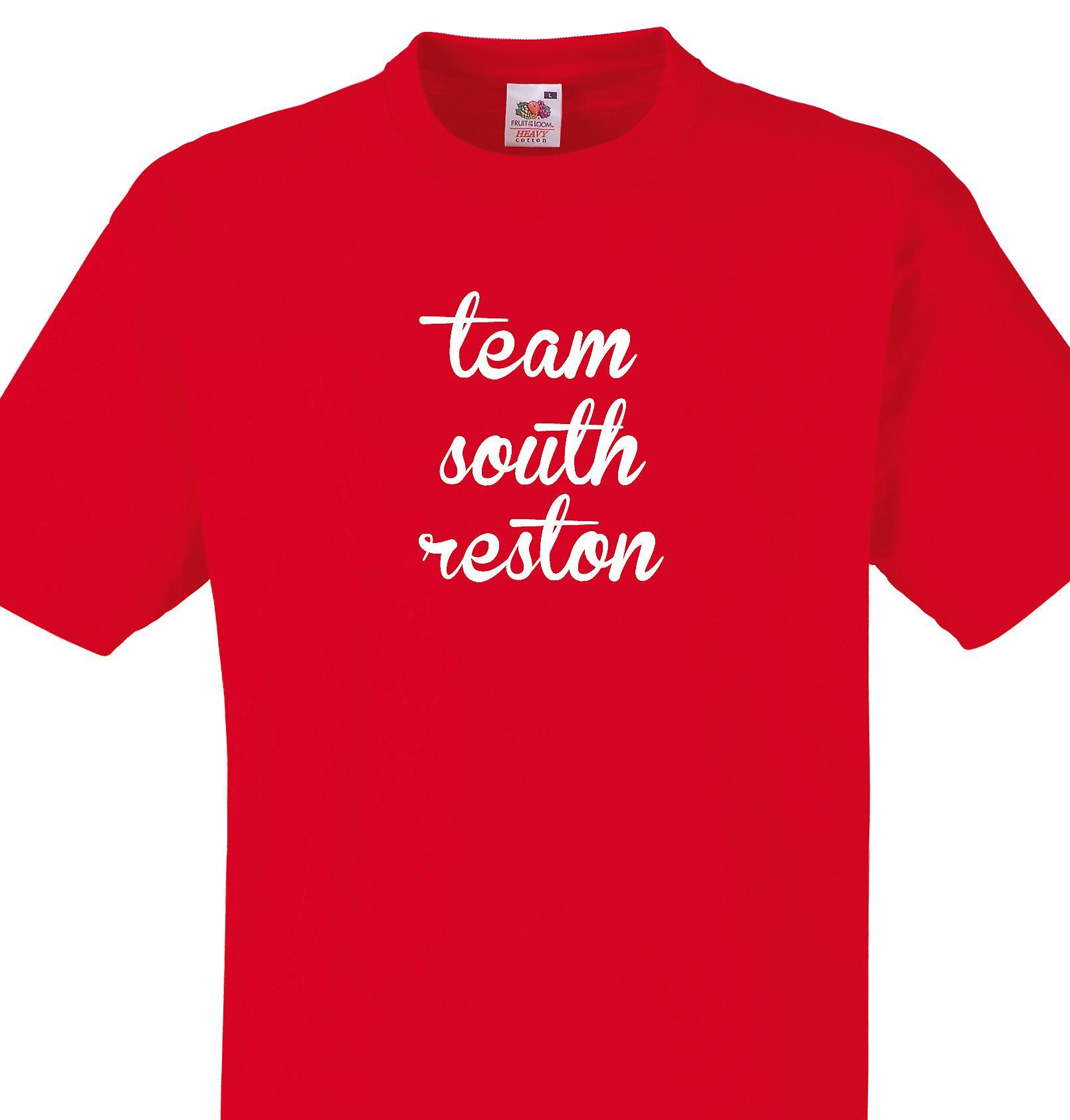 Team South reston Red T shirt