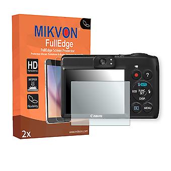 Canon PowerShot A1400 screen protector - Mikvon FullEdge (screen protector with full protection and custom fit for the curved display)