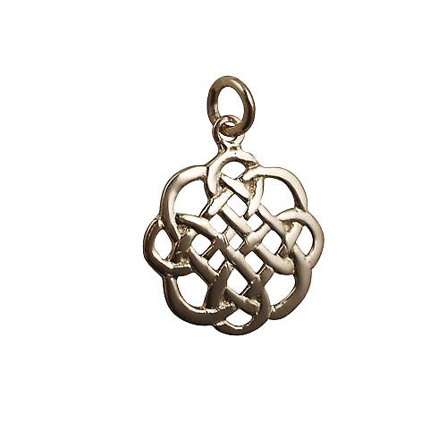 9ct Gold 20x21mm Celtic knot Pendant