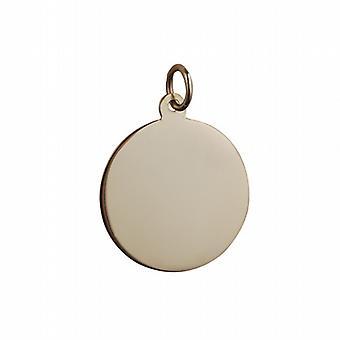 9ct Gold schlichte runde Scheibe 19mm