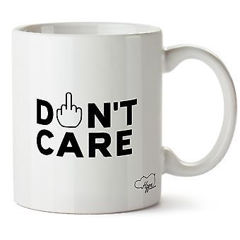 Hippowarehouse Don't Care Printed Mug Cup Ceramic 10oz