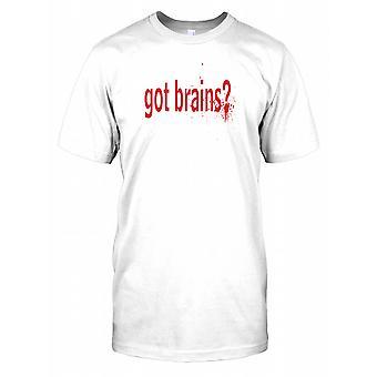 Dostał mózgi - fajne Zombie cytat dzieci T Shirt