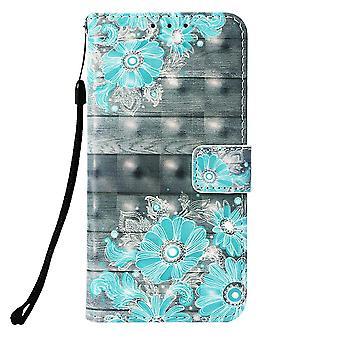Samsung Galaxy S10 cartera caja azul flores