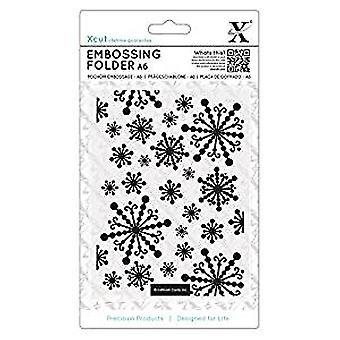 Xcut A6 Embossing Folder Beautiful Snowflakes (XCU 515922)